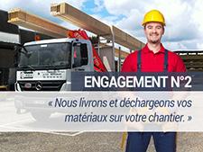 Engagement N°2 - Nous livrons et déchargeons vos matériaux sur votre chantier