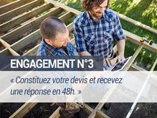 Engagement N°3 - Constituez votre devis et recevez une réponse en 48h