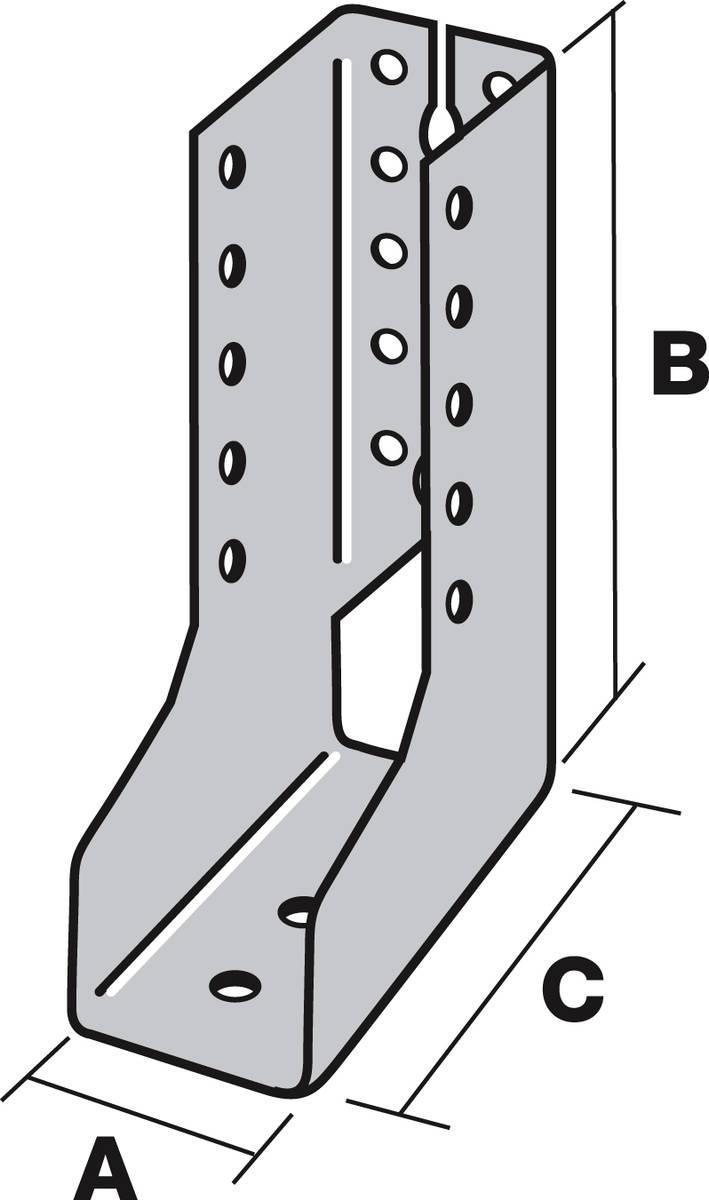 Sabot Ailes Intérieures t440 larg80 ht180 ep2 - sai440/80/2