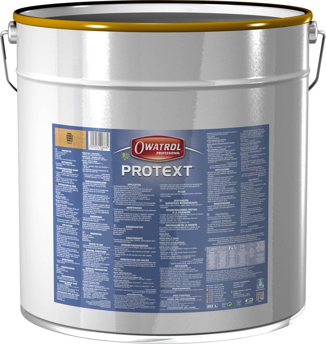 Saturateur mat tous bois PROTEXT - seau de 20 litres - teck