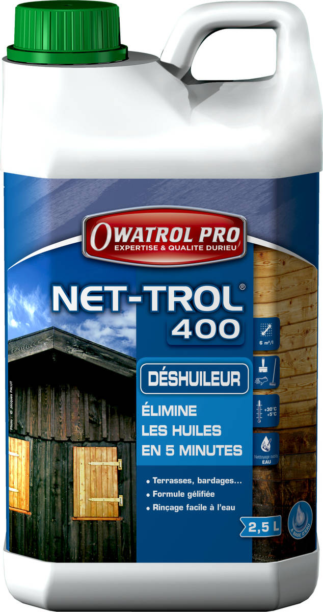 Déshuileur gélifé pour tous bois NET-ROL 400 - seau de 10 litres