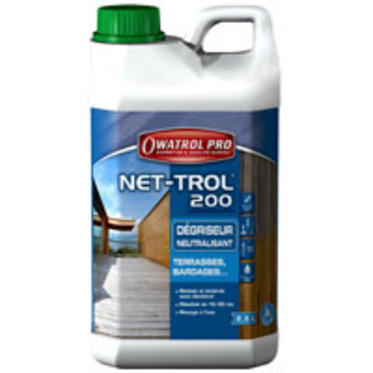 Dégriseur neutralisant gélifié tous bois NET-ROL 200 - bidon de 2,5 litres