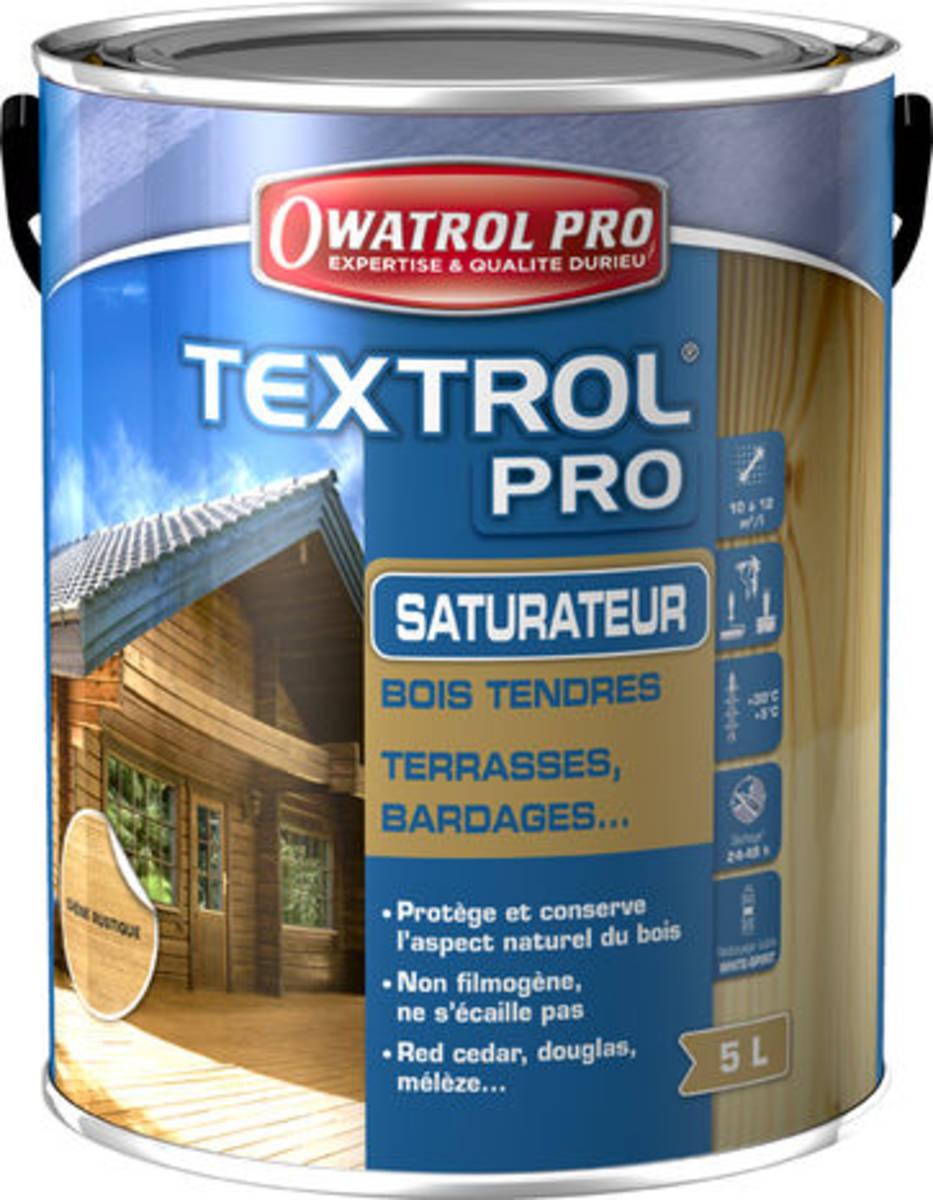 Saturateur pour bois extérieurs TEXTROL pro - bidon de 5 litres - Incolore