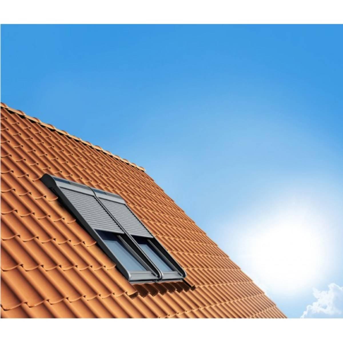 volet roulant solaire velux ssl mk04 78x98 cm mba bois et construction durable. Black Bedroom Furniture Sets. Home Design Ideas