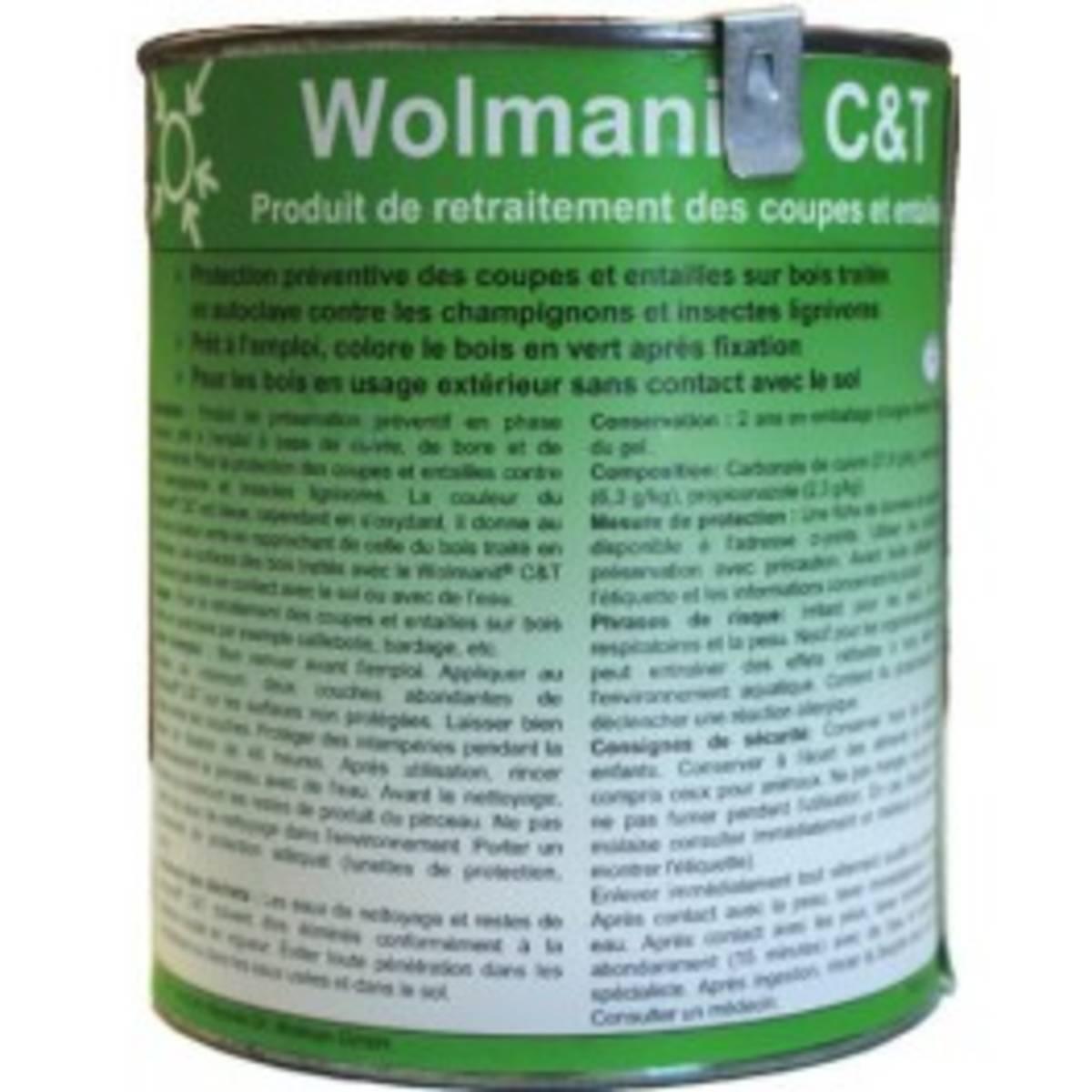 Retraitement des coupes - Wolmanit  Marron (pot de 0,75kg)
