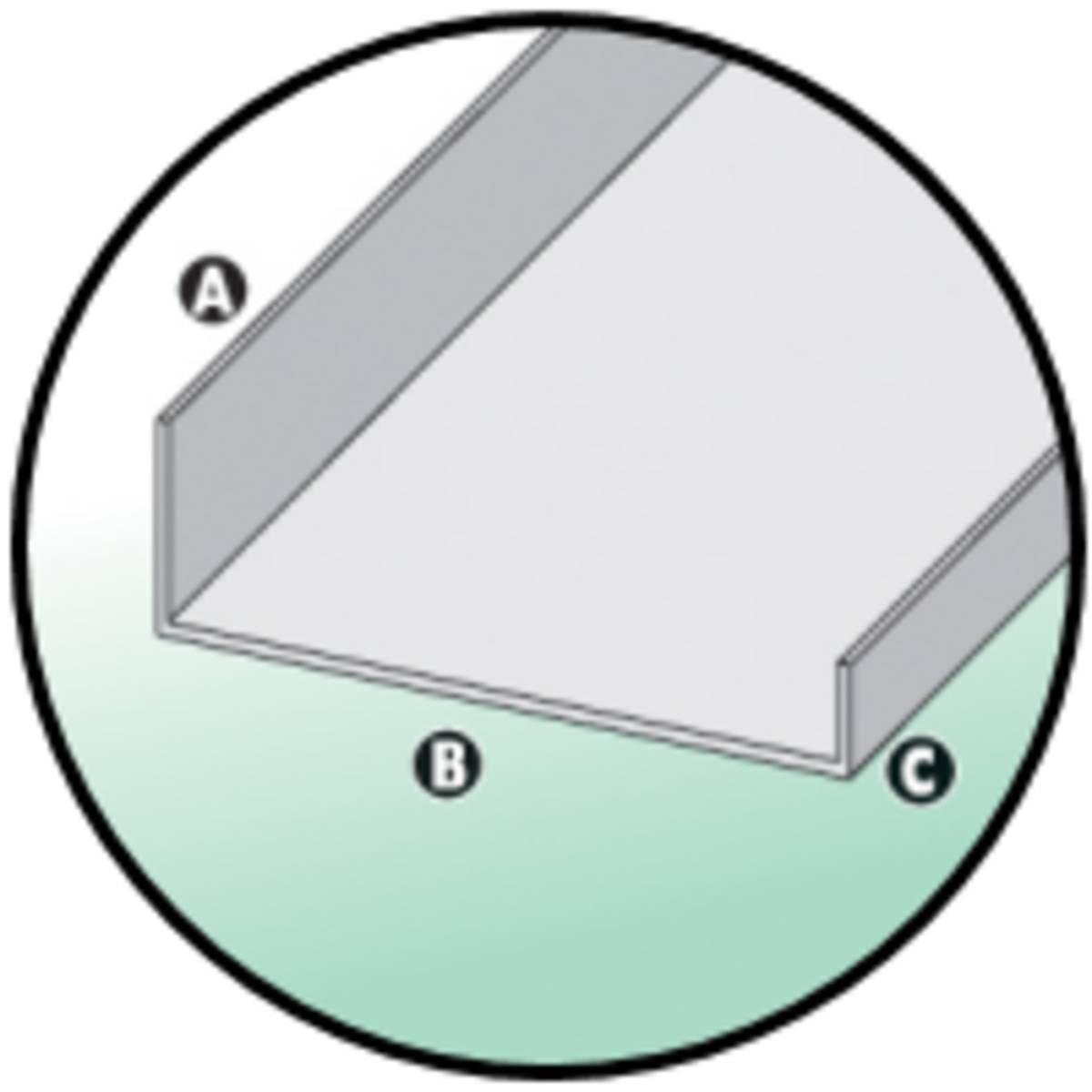 Noue a clouer alu zinc dev 500 12 mba bois et construction durable - Noue en zinc ...