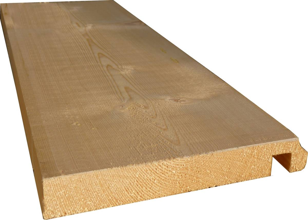 Planche de rive en Epicéa - 27x170 mm gorge et rainure