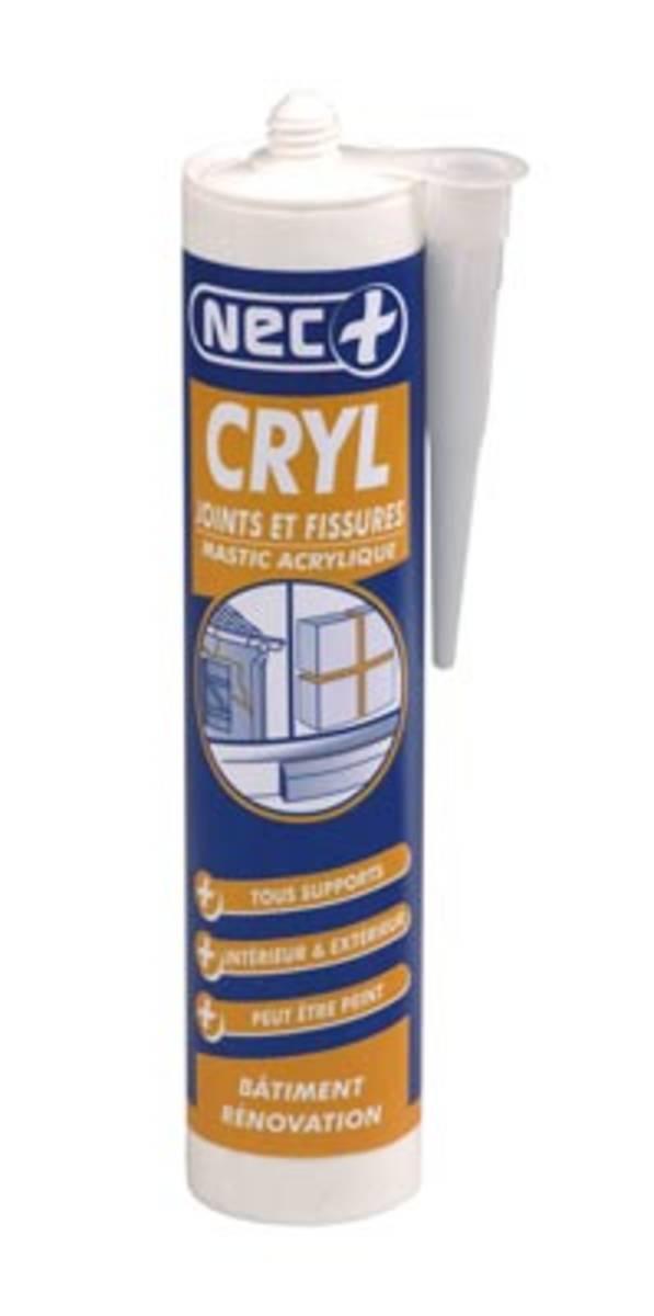 Mastics d'étanchéité acrylique - CRYL JOINT et FISSURES Blanc-c. 310 ml