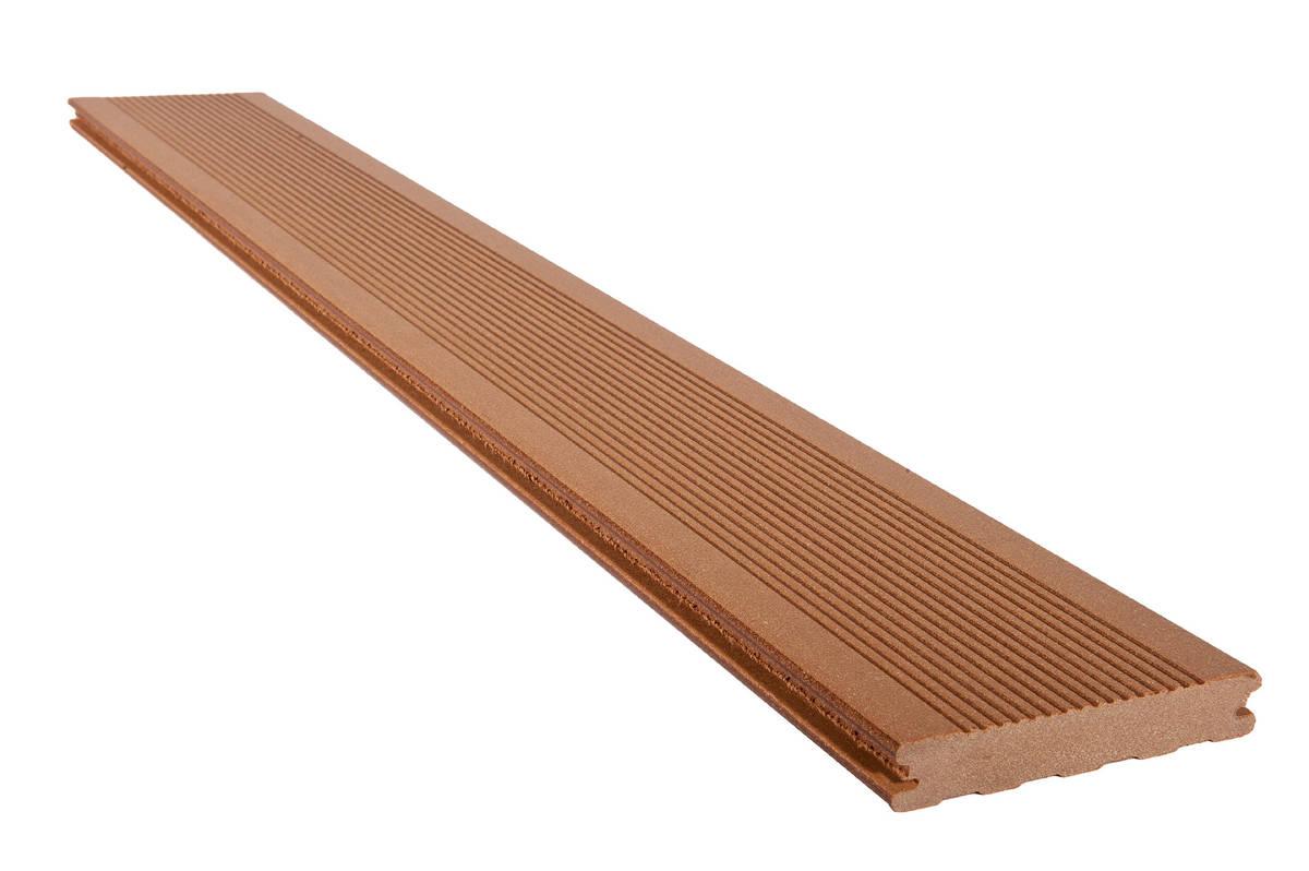 Lame de Terrasse elegance Rainuré - SILVADEC brun exotique 138x23x4000