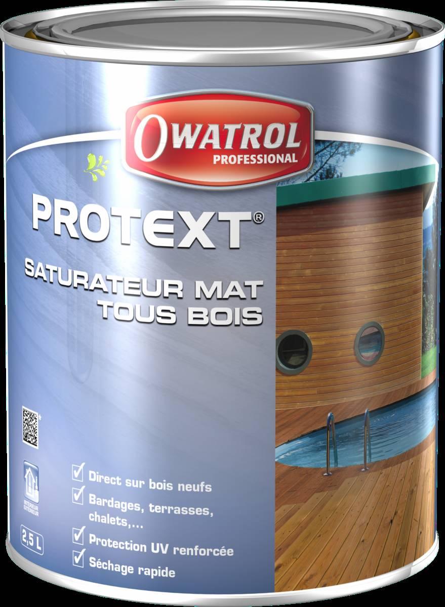 Saturateur mat tous bois PROTEXT - pot de 5 litres - padouk