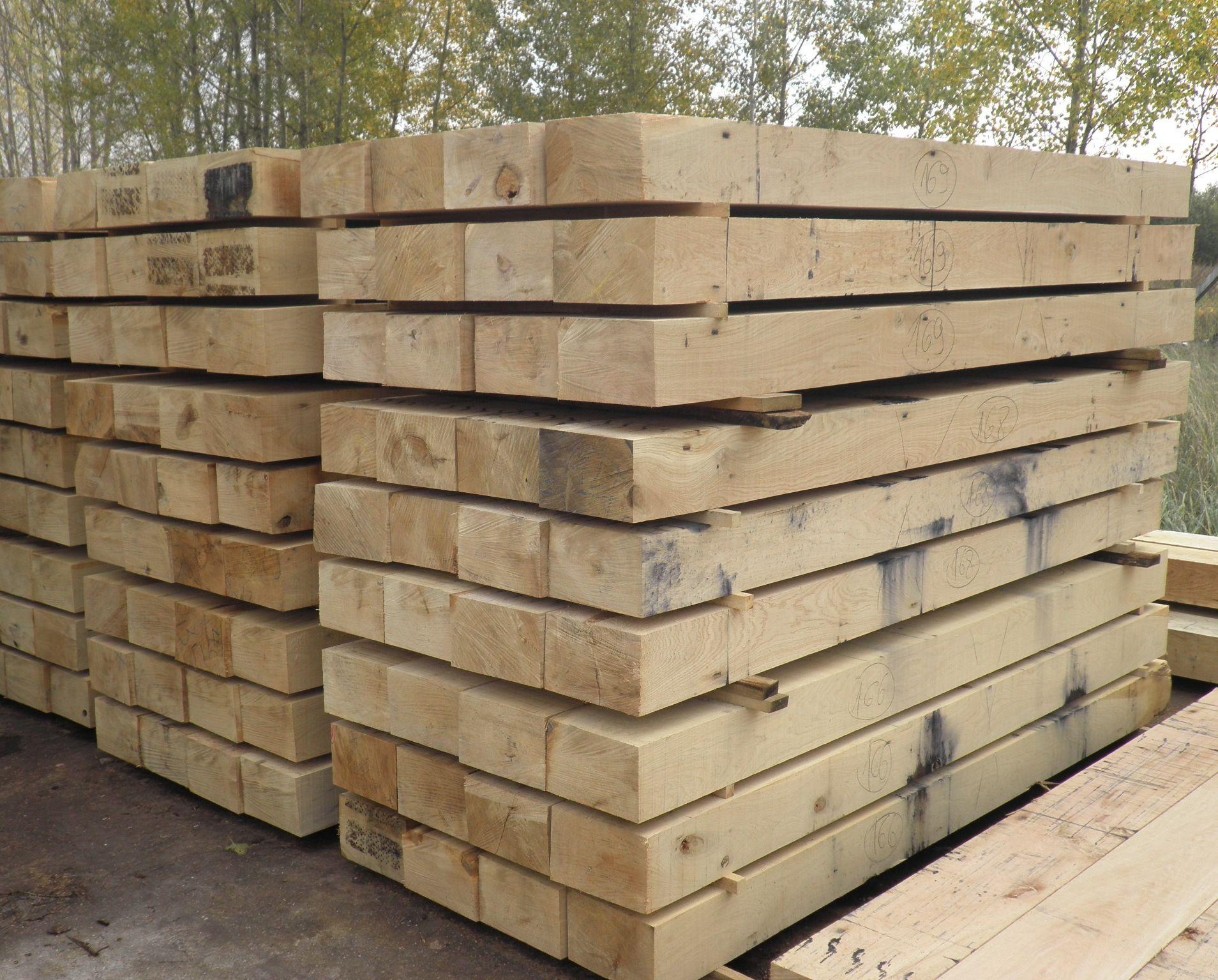 traverse de chemin de fer en ch ne 120x200mm mba bois et construction durable. Black Bedroom Furniture Sets. Home Design Ideas
