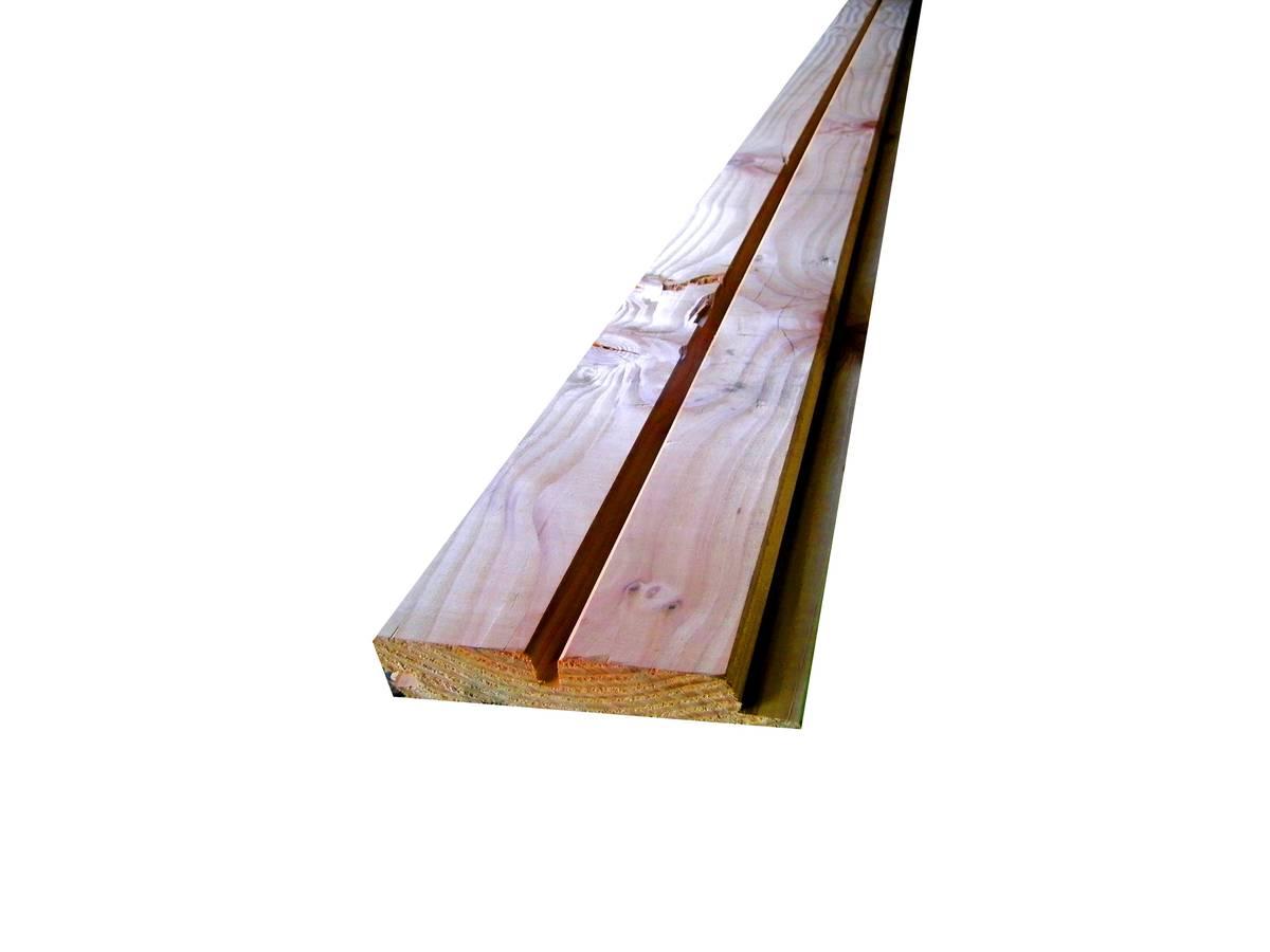 Bardage en douglas faux claire voie choix a b 26x135 mm for Bardage bois faux claire voie