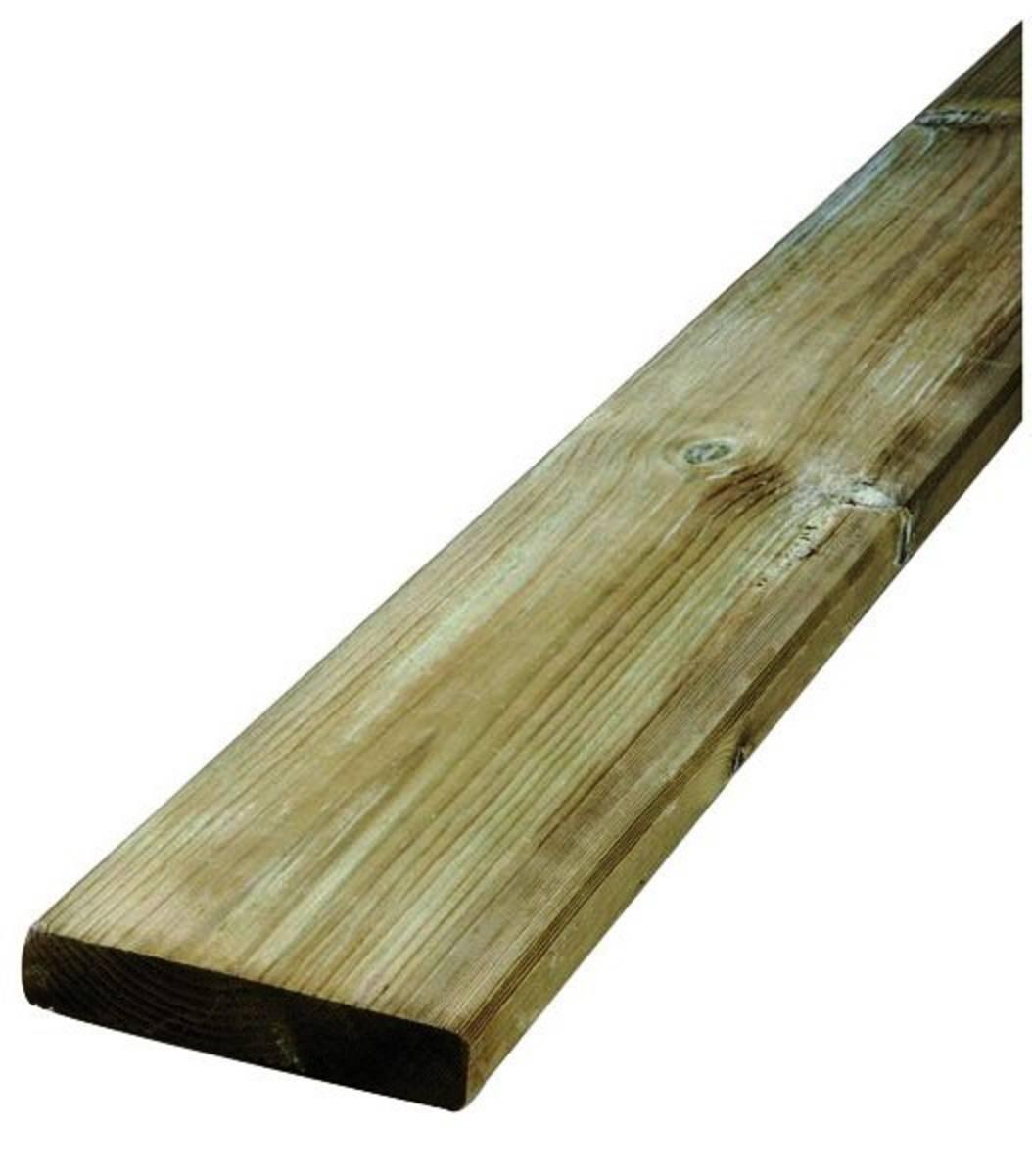 Lame de terrasse en pin sylvestre qualité us 27x145 - CL4 vert