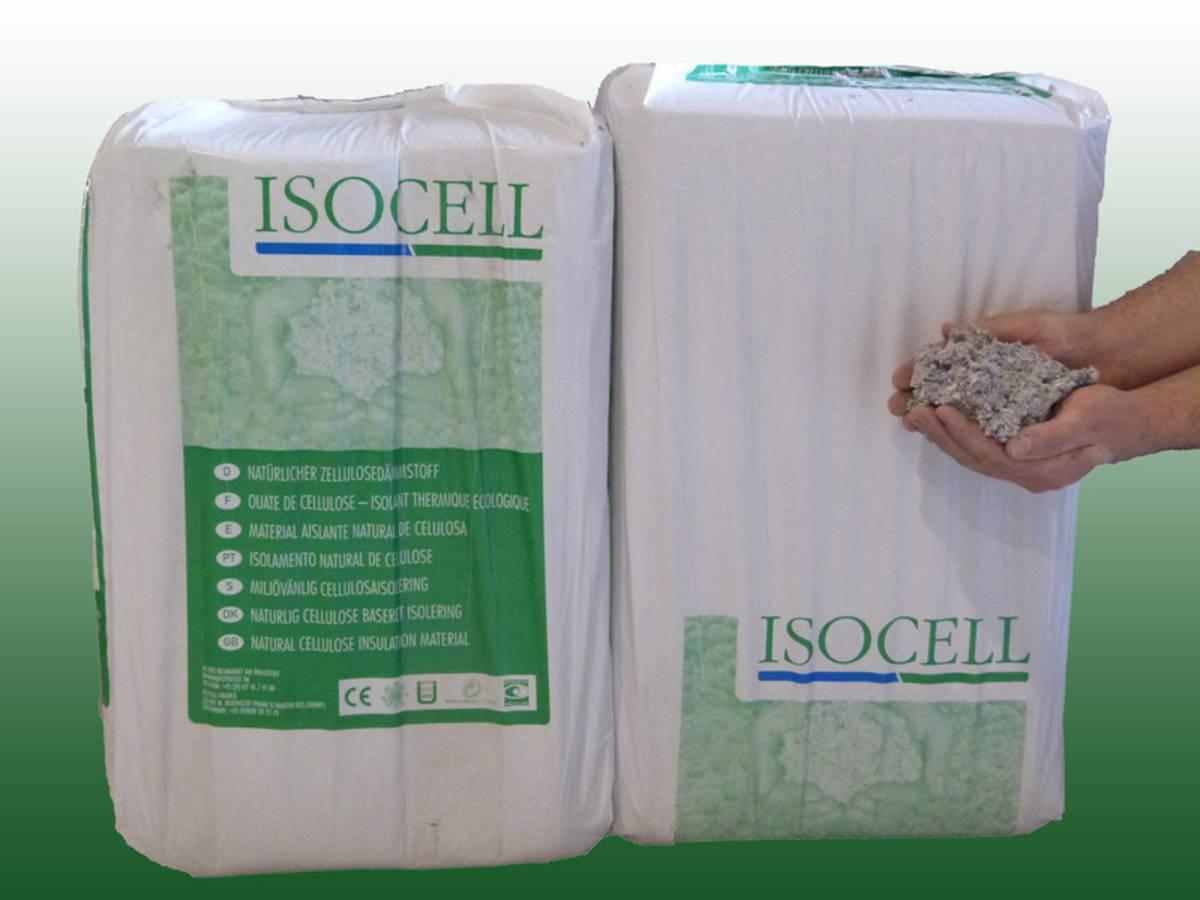 ouate de cellulose isocell nature sac de 10 kg mba bois et construction durable. Black Bedroom Furniture Sets. Home Design Ideas