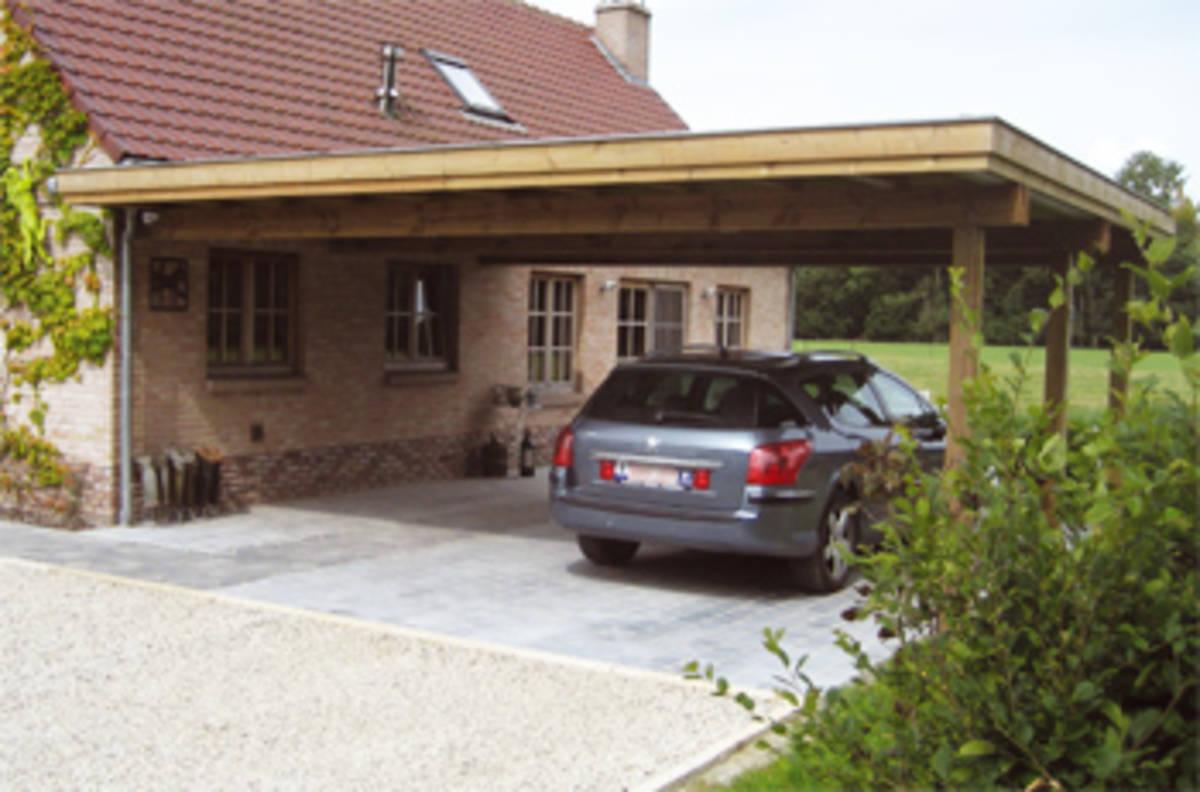 Abris de voiture mba bois et construction durable for Construction abri voiture