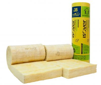 Panneau laine de verre revêtu ISOMOB 35 ep. 120 mm larg. 0,575 Colis de 4.49 m² (R=3.40)