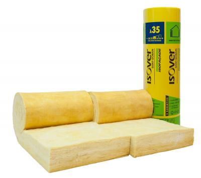 Panneau laine de verre semi-rigide isofaçade 35r ep. 100mm - larg 600mm - long 5500mm colis 6.60m2