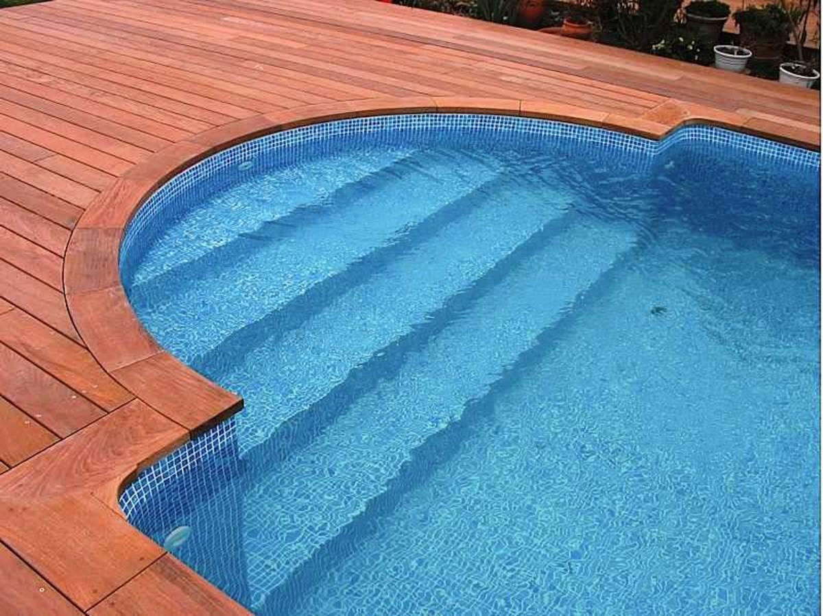 Margelle de piscine en Ipé - 34x295 mm