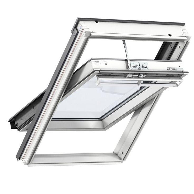 Fenêtre à rotation Standard, WhiteFinish GGL UK08 2054, finition bois peint en blanc  134 CM X 140 C