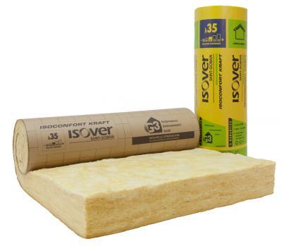 Rouleau de laine de verre isoconfort 35 ep. 180 mm larg. 1200 mm colis de 3.96 m2 (R=5.10)
