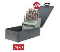 Coffret forets métal pro hss meulé diam 1-13/0.5mm - 25 pcs