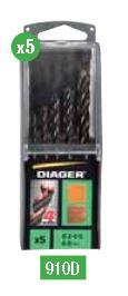 Coffret 5 mèches bois 4 wood pointes pro diam 3-4-5-6-8mm