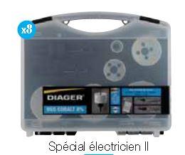 Coffret scie cloche spécial électricien II - 8 pièces