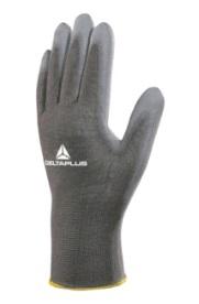 Gant Delta plus gris tricot polyester - Paume enduite