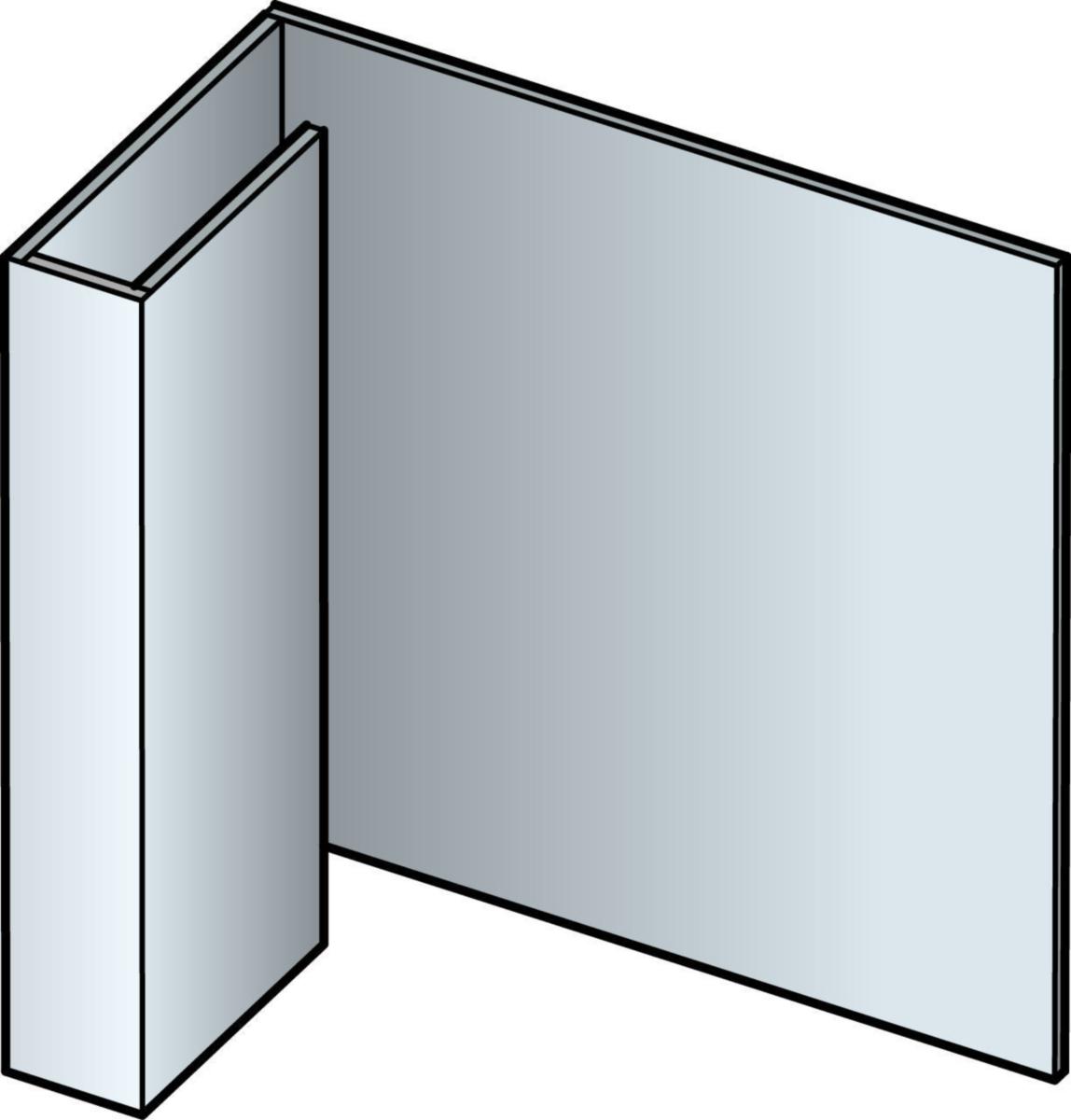Accessoire de finition clin cedral lap profil d'arret alu coloré - 3ml coloris C01 à C10 - réf 22