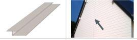 AIGIS Accessoire Bardage Joint Vertical de 17 Longueur 3ml Coloris assorti