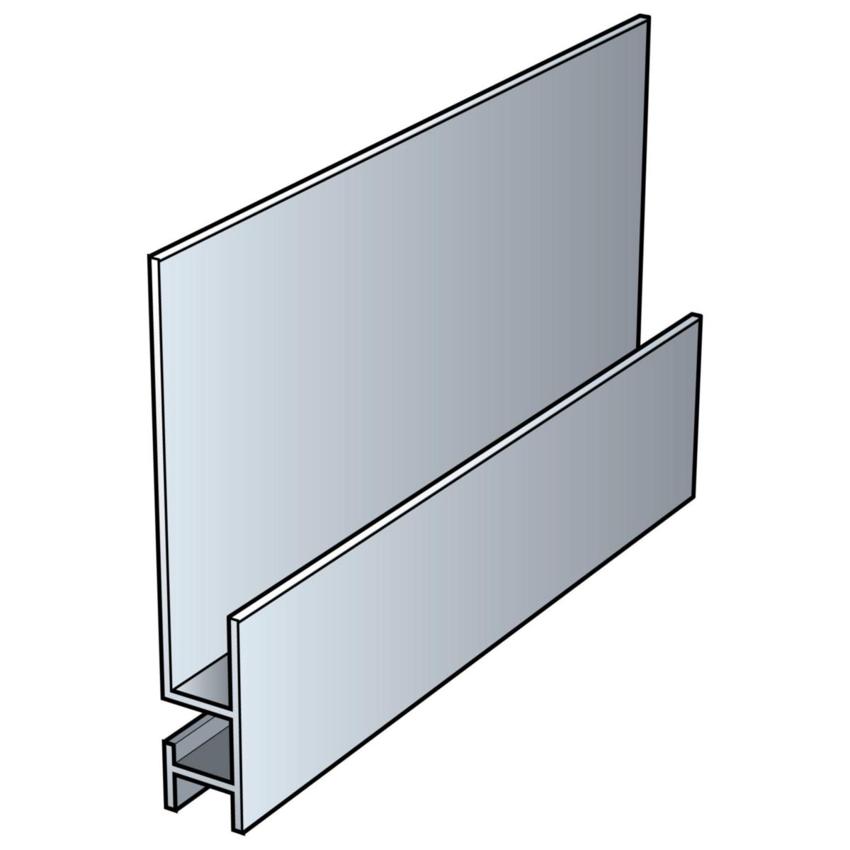 Accessoire clin cedral profil de départ click pour pose verticale teinte alu 3.00ml  réf 37